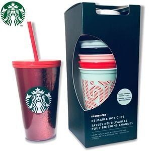 Starbucks Holiday Red Tumbler & Color Change Cups